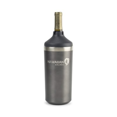 Aviana™ Chateau Double Wall Stainless Wine Bottle Cooler Grey