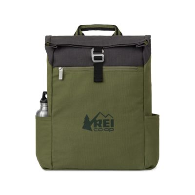 Charlie Cotton Computer Backpack Green