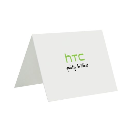 Gourmet Expressions Folded Greeting Card - White