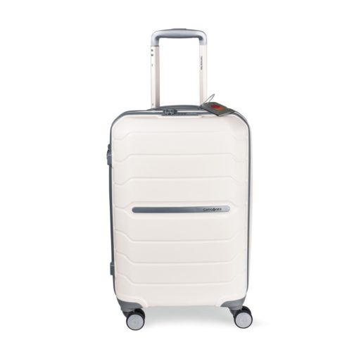 "Samsonite Freeform 21"" Spinner with Luggage Tag White"