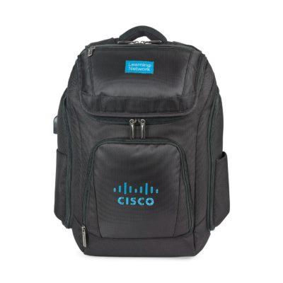 Travis & Wells™ Velocity Charging Computer Backpack Black
