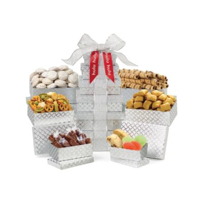 Sunsational Shimmering Sweets and Snacks Gourmet Tower Grey