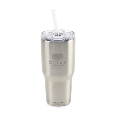 Aviana™ Midas XL Double Wall Stainless Tumbler - 34 Oz. Silver