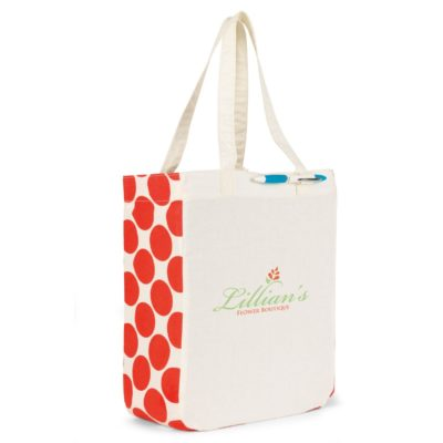 Chelsea Cotton Market Tote Natural-Orange