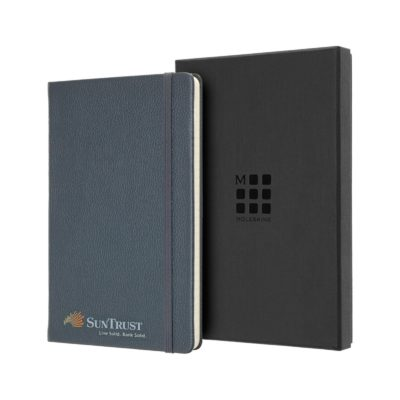 Moleskine® Leather Ruled Large Notebook Blue