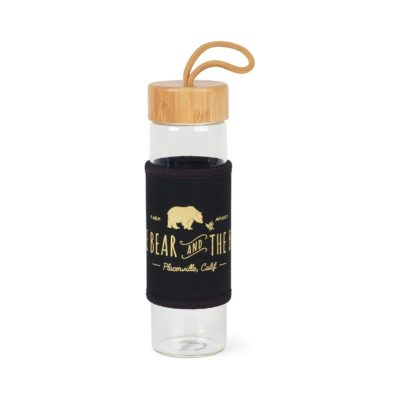 Serenity Bamboo Glass Bottle - 18.5 Oz. - Black