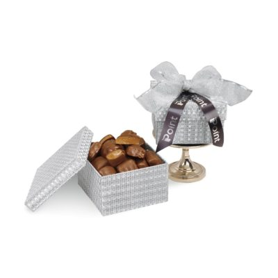 Sparkling Almond Butter Toffee Gift Box Silver