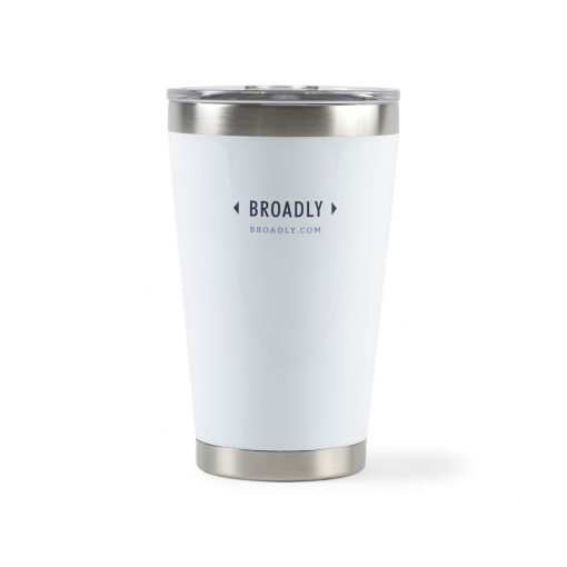 Aviana™ Vale Double Wall Stainless Pint - 16 Oz. White
