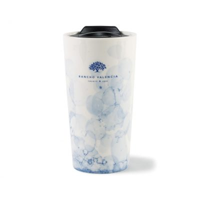 Celeste Ceramic Tumbler - 13.5 Oz. Blue-White