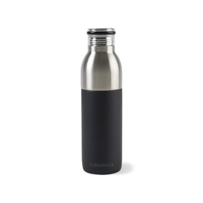 Emery 2-in-1 Double Wall Stainless Bottle - 20 Oz. Black