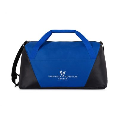 Geometric Sport Bag Blue