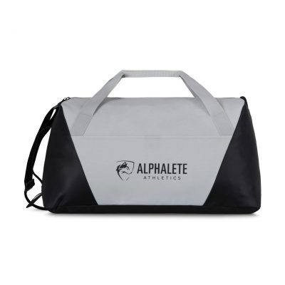 Geometric Sport Bag Grey-Silver