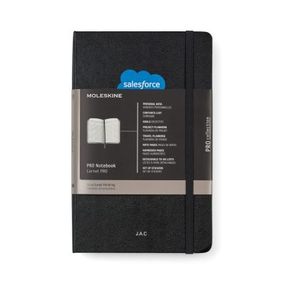 Moleskine® Hard Cover Ruled Large Professional Notebook Black