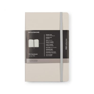 Moleskine® Hard Cover Ruled Large Professional Notebook Grey