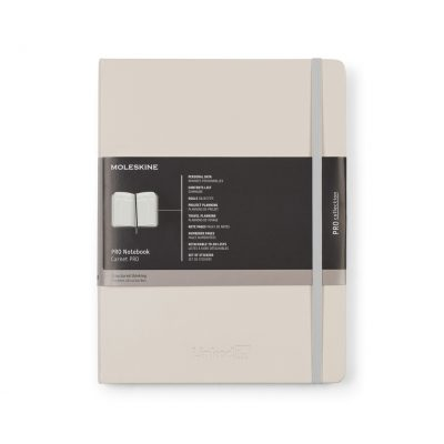 Moleskine® Hard Cover Ruled X-Large Professional Notebook Grey
