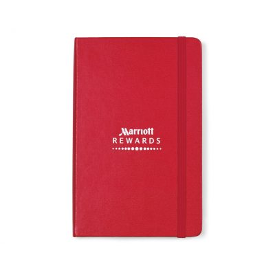 Moleskine® Hard Cover Ruled Medium Notebook Red