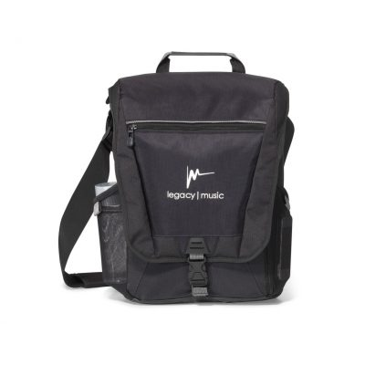 Vertex® Vertical Computer Messenger Bag - Black