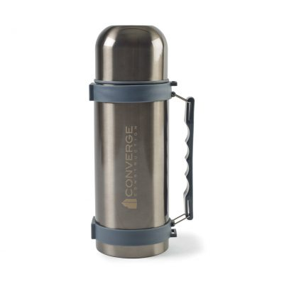 Aviana™ Fallon Double Wall Stainless Beverage Bottle - 34 Oz. Grey-Black