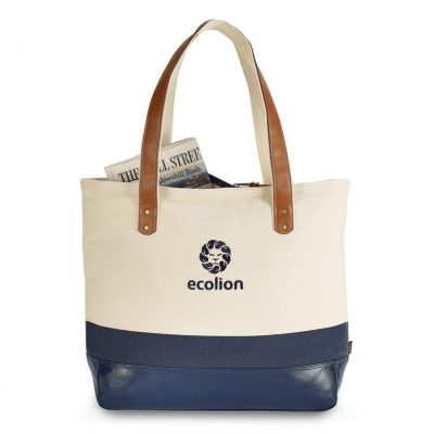 Kinsley Cotton Tote Blue-Navy