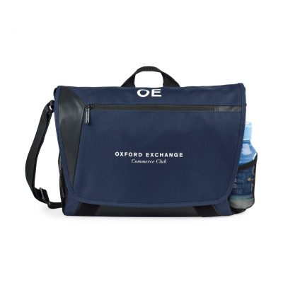 Sawyer Computer Messenger Bag Blue-Navy