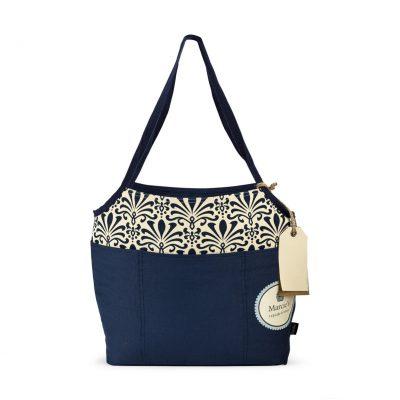 Tori Cotton Fashion Tote Blue-Navy