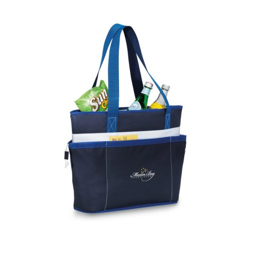 Vineyard Insulated Tote Blue-Navy
