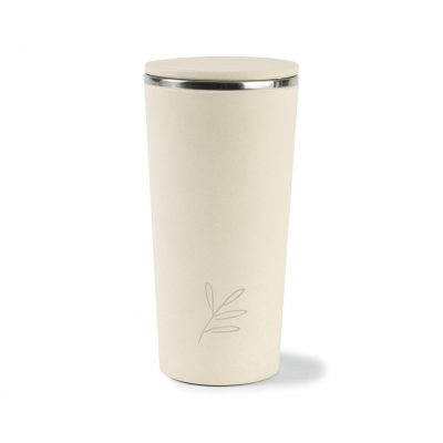 Gaia Bamboo Fiber with Stainless Steel Tumbler - 13.5 Oz. Natural