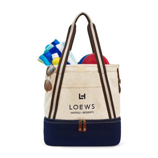 Heritage Supply Freeport Cotton Insulated Tote Blue-Natural-Navy