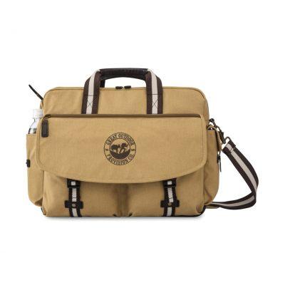 Heritage Supply Ridge Cotton Computer Messenger Bag Natural