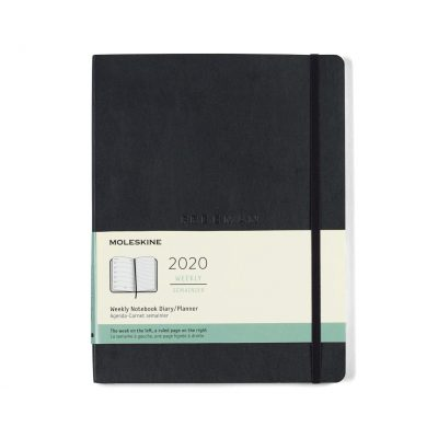 Moleskine® Soft Cover X-Large 12-Month Weekly 2020 Planner Black