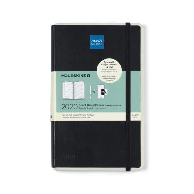 Moleskine Hard Cover Large 12-Month Weekly 2020 Smart Planner Black
