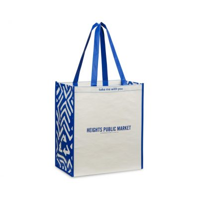 Laminated 100% Recycled Shopper Navy-Blue