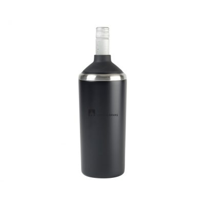 Aviana™ Magnolia Double Wall Stainless Wine Bottle Cooler Black
