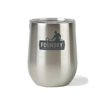 Corkcicle® Stemless Wine Cup - 12 Oz. Silver-Grey