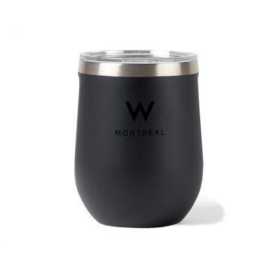 Corkcicle® Stemless Wine Cup Gift Set Black