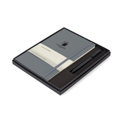 Moleskine® Large Notebook and GO Pen Gift Set Grey