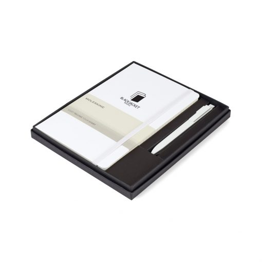 Moleskine® Large Notebook and GO Pen Gift Set - White