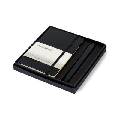 Moleskine® Pocket Notebook and GO Pen Gift Set Black