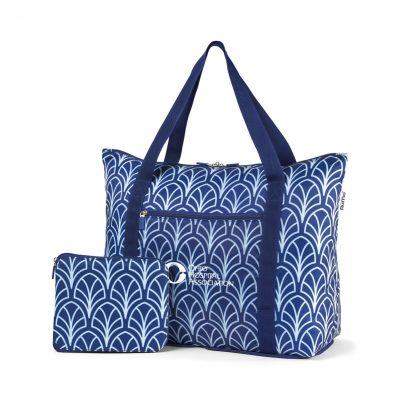 RuMe® cFold Travel Duffle Blue-White