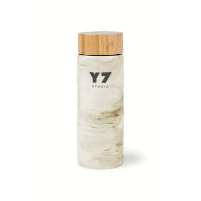 10 Oz. Gray Marble Celeste Bamboo Ceramic Bottle
