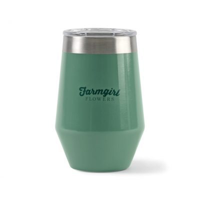 12 Oz. Sage Opaque Gloss Green Aviana™ Vine Double Wall Stainless Wine Tumbler