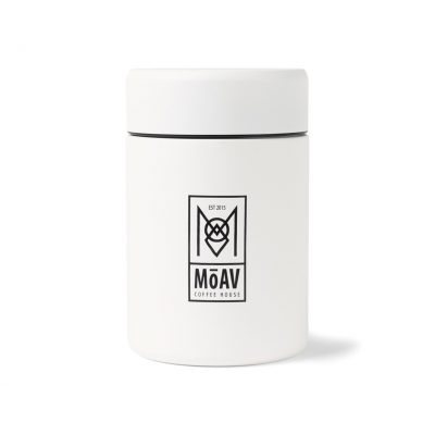 12 Oz. White MiiR® Coffee Canister