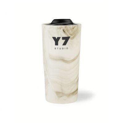 13.5 Oz. Gray Marble Celeste Ceramic Tumbler