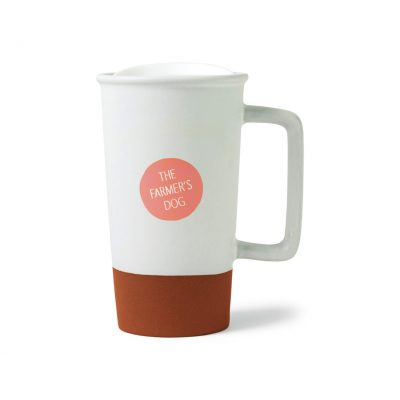 17 Oz. White Sevilla Terracotta Ceramic Mug