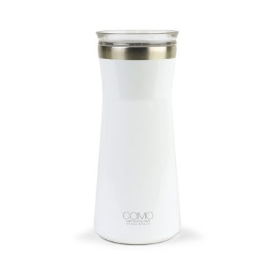 34 Oz. White Aviana™ Harlow Double Wall Stainless Carafe