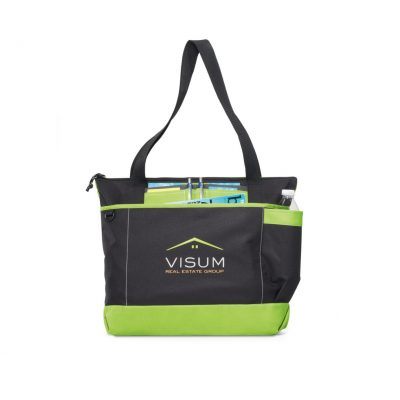Apple Green/Black Avenue Business Tote Bag