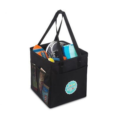 Black Colbie Collapsible Cotton Tote Bag