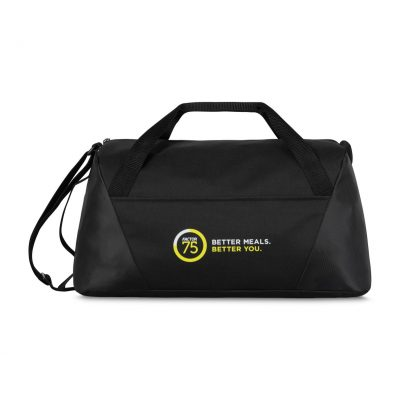 Black Geometric Sport Bag