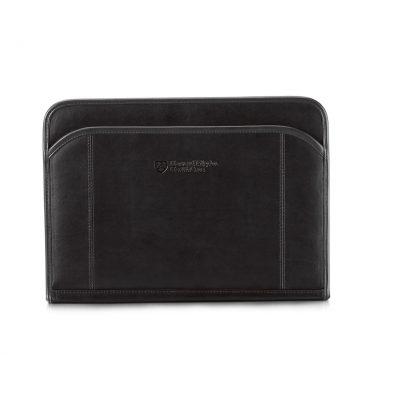 Black Global Leather Padfolio