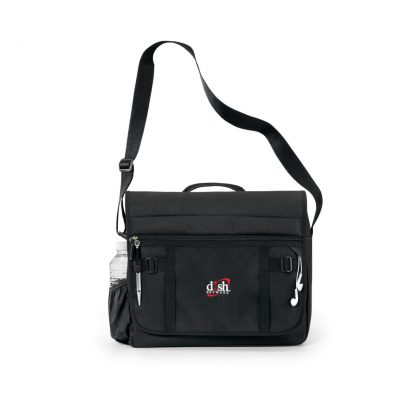 Black Global Messenger Bag